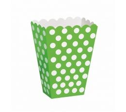 Kastītes uzkodām, salātkrāsas ar punktiem (8 gab)