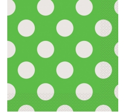 Salvetes, salātkrāsas ar punktiem (16 gab)