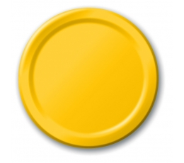 Šķīvīši, dzelteni (8 gab/17 cm)