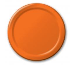 Šķīvīši, oranži (8 gab/22 cm)