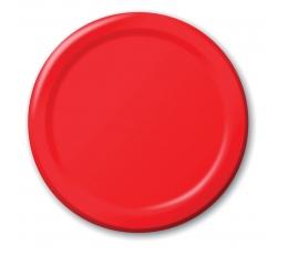 Šķīvīši, sarkani (8 gab/17 cm)