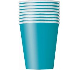 Glāzītes, tirkīza krāsā (8 gab/266 ml)