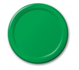 Šķīvīši, zaļi (8 gab/18 cm)