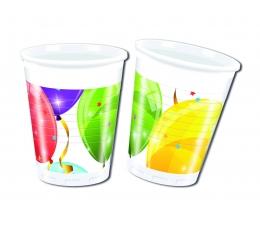 """Plastmasas glāzītes """"Balonu Fiesta"""" (8 gab/ 200ml)"""