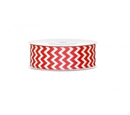 Dekoratīva lente, sarkani zigzagi (10 m)