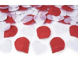 """Хлопушка с конфетти """"Сердечки un лепестки"""" (50 см)"""