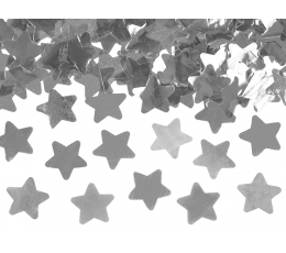 "Konfeti plaukšķene ""Sudraba zvaigznes"" (60 cm)"