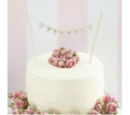 "Tortes dekorācija, virtene ""Mr&Mrs"""