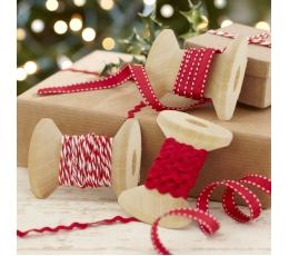 """Dekoratīvas lentītes """"Sarkani Ziemassvētki"""" (3 gab)"""