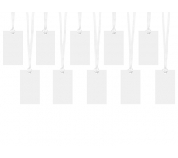 Novēlējumu kartiņas-etiķetes, baltas (10 gab)