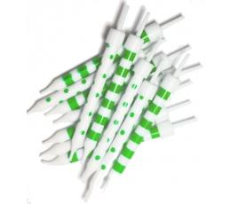 Svecītes, zaļi baltas (12 gab)