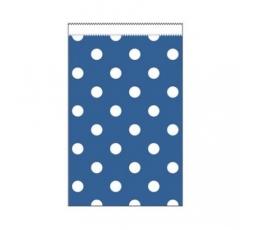 Mini dāvanu maisiņi, zili punktaini (20 gab)