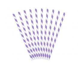 Соломки , фиолетовые, широкие в полоску  (10 шт)
