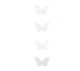 """Vītne """"Balti tauriņi"""" (2 m)"""