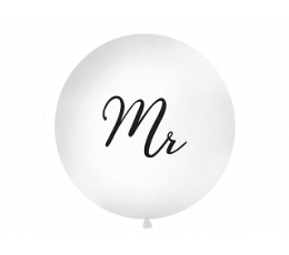 "Gigant balons ""Mr"", balts (1 m)"