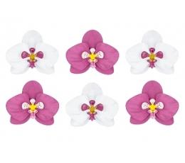 """Dekorāciju komplekts """"Orhidejas"""" (6 gab)"""
