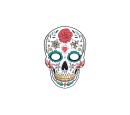 """Maska """"Dia de los Muertos"""", balta"""
