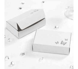 """Dāvanu kastītes """"Tauriņi"""", baltas (10 gab)"""