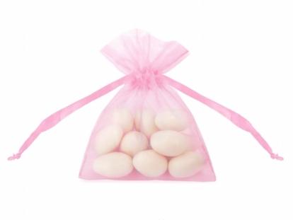 Organzas maisiņš, rozā (7,5x10 cm)