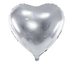 "Folija balons ""Sudraba sirds"" (45 cm)"