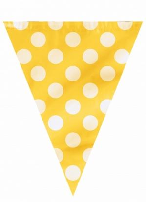 Karodziņu vītne, dzeltena ar punktiem (3,65 m)