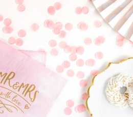 Конфетти, светло розовые бумажные (15 г) 1
