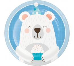 """Тарелочки """"Медвежонок"""" (8 шт/ 17 см)"""