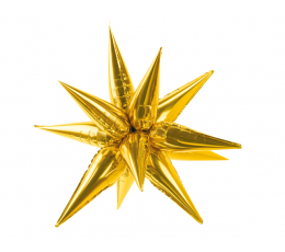 "3D folija balons ""Zelta zvaigzne"" (70 cm)"