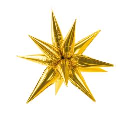 "3D folija balons ""Zelta zvaigzne""  (95 cm)"