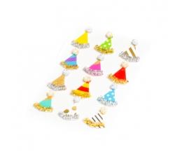 """3D uzlīmes """"Dzimšanas dienas cepures"""" (12 gab/3 cm)"""