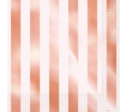 "Salvetes ""Rozā zelts"", svītrainas (16 gab)"