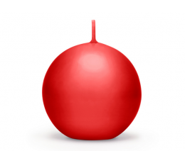 Apaļa svece, sarkana matēta (8 cm)