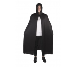 Apmetnis ar kapuci, melns (1,50 m)
