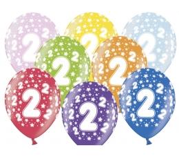 "Baloni ""2"", krāsaini (6 gab. / 30 cm)"
