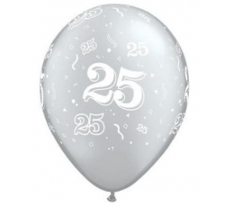 "Baloni ""25"" , sudraba (10 gab./28 cm. Q11)"