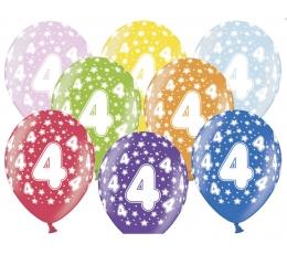 "Baloni ""4"", krāsaini (6 gab. / 30 cm)"