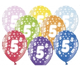 "Baloni ""5"", krāsaini (6 gab. / 30 cm)"