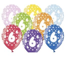 "Baloni ""6"", krāsaini (6 gab./30 cm)"