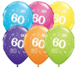 "Baloni ""60"", krāsaini (6 gab. / 28 cm)"