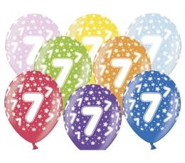 "Baloni ""7"", krāsaini (6 gab./30 cm)"