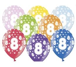 "Baloni ""8"", krāsaini (6 gab. / 30 cm)"