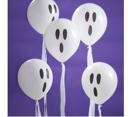 """Baloni ar lentītēm """"Spoki"""" (10 gab/ 30 cm)"""