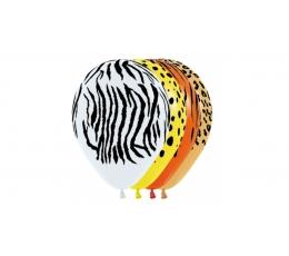 """Baloni """"Džungļu raksti"""" (25 gab./30 cm)"""