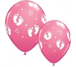 "Baloni ""Pēdiņas"" / rozā (25 gab. / 28cm)"