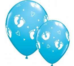 """Baloni """"Pēdiņas"""", zili (1 gab. / 28 cm)"""