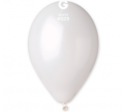 Baloni, perlamutra balti (100gab / 28cm.)