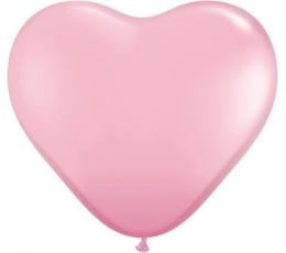 """Baloni """"Rozā sirds"""" (50gab. / 38 cm Q15)"""