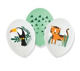 """Baloni """"Safari dzīvnieki"""" (6 gab./27 cm)"""