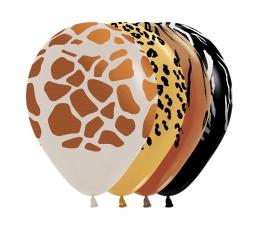 "Baloni ""Safari raksti"", metalizēti (50 gab./12 cm)"