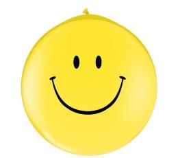 "Baloni ""Smaidiņi"" / dzelteni (2 gab. / 78cm Q30)"